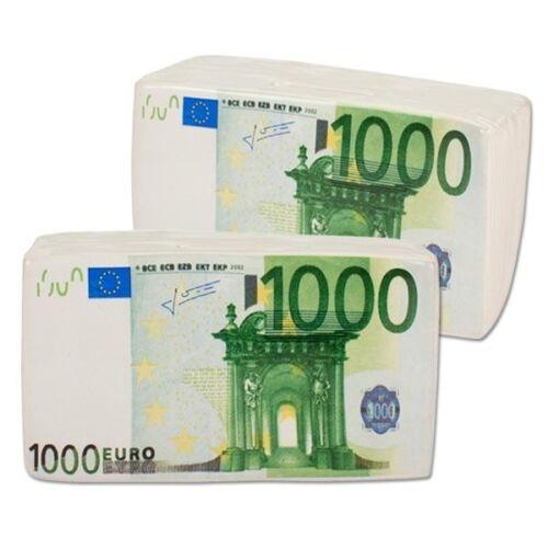 """Spardose /"""" MONEY NOTES /"""" Keramik weiß Sparbüchse 1000€ Geldschein DEKO style"""