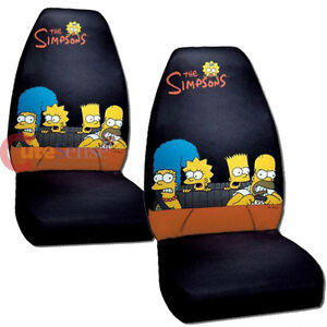 Image Is Loading Simpsons Family Front Car Seat Cover 2pc Set