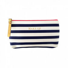 57a53f04f9 Bombay Duck NEW! All Aboard! Navy and White Stripe Make Up Bag