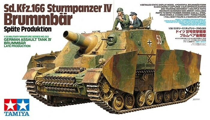 Tamiya 1  35 Sd.Kfz.166 Sturmpanzer IV Brummbar Late Production