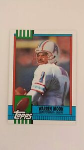 WARREN-MOON-1990-TOPPS-FOOTBALL-Card-216-C0426