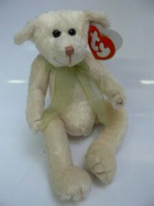 TY 50 B  Beanie Baby Teddy Harper ca.20cm creme