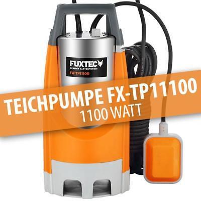 FUXTEC Schmutzwassertauchpumpe TP11000 Teichpumpe Tauchpumpe Gartenpumpe 1100 W