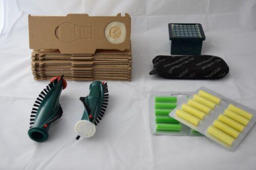 Sparset geeignet für Vorwerk Kobold 130//131//131SC Tüten Duft Bürsten 54tlg