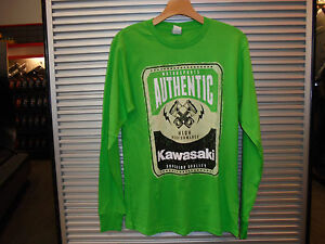 KAWASAKI AUTHENTIC HIGH PERFORMANCE GREEN LONG SLEEVE T-SHIRT