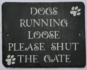 Personalised CHIUDI il cancello cani Corsa Sciolto Gate segno vite sul PLACCA DOG SIGN  </span>