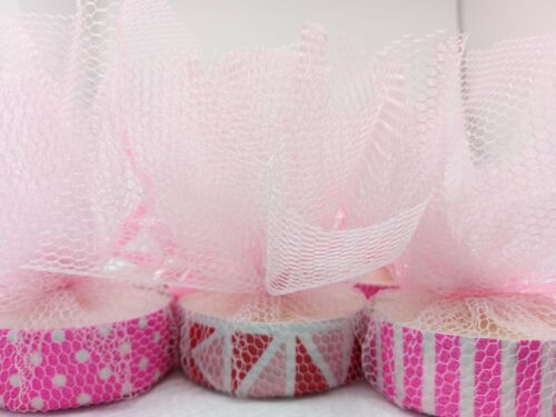 PINK CANDLE TEA LIGHT FAVOURS BABY SHOWERS GUEST THANK YOU GIFTS