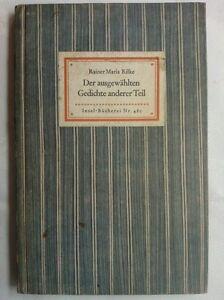 Details About Rainer Maria Rilkeder Ausgewahlten Gedichte Erster Teilinsel Buckerei No 480