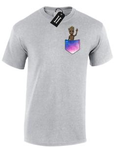 Guardians Galaxy Funny Mens Shirt Wave Gift Pocket T Groot Baby Cute txQrhCsdB