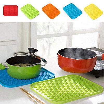 Kitchen Silicone Trivet Pot Pan Straightener Holder Mat Heat Non-slip Resistant