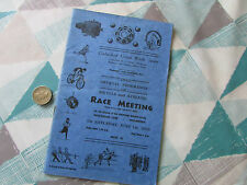 CHELMSFORD United Works Sports 1935 BICYCLE & Athletic RACE Meeting Programme