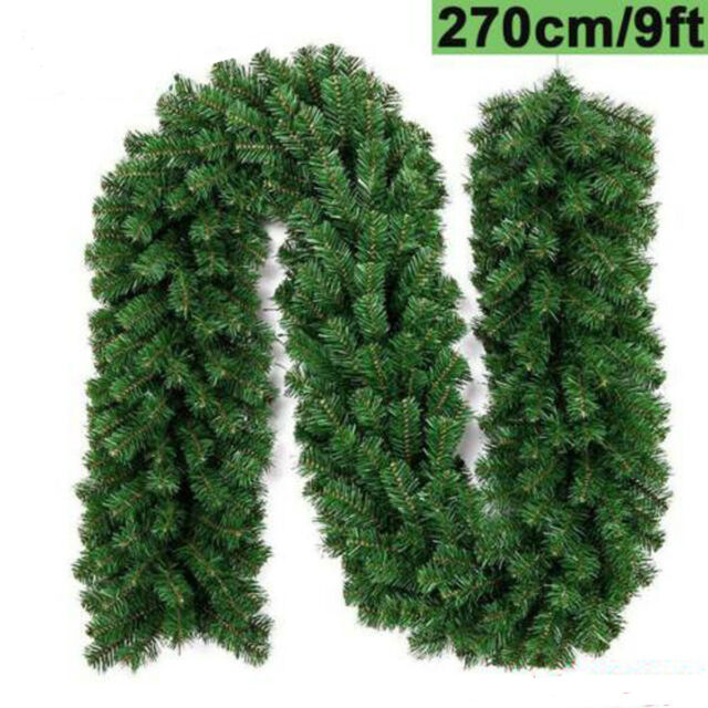 Philips 9ft Prelit Flocked Artificial Pine Christmas Garland Clear Lights Green For Sale Online Ebay
