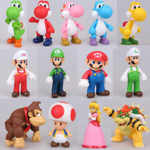NEW Super Mario Bros Mario Luigi Toad Yoshi Action Figure Doll Kid Toys