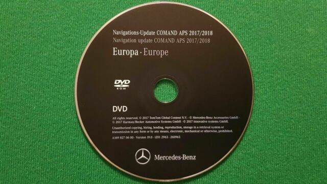 2018 Mercedes-Benz DVD Comand Aps Europe NTG2 A/B/C/CLK/G    Class LAST  ACTUAL