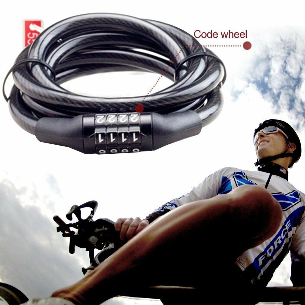 Mini Practical Bicycle Steel Security Locks Wire Bike Cycle Cable Lock Safety