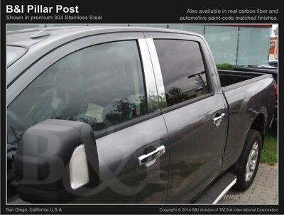 Chrome PIllar Posts FOR NISSAN TITAN FITS CREW CAB INCLUDES 4PCS