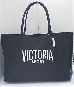 12ae7102d Victoria's Secret Large Black Sport Tote Carry All Beach Gym Bag ...