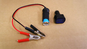 12V-DC-BATTERY-CLAMPS-TO-FEMALE-CIGARETTE-LIGHTER-PLUG-W-USB-ADAPTER-amp-LED-METER