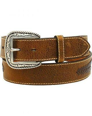 Ariat Men/'s Western Concho Brown Leather Belt A10214282
