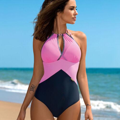Summer Womens Padded One Piece Bikini Swimsuit Monokini Lady Beachwear Swimwear