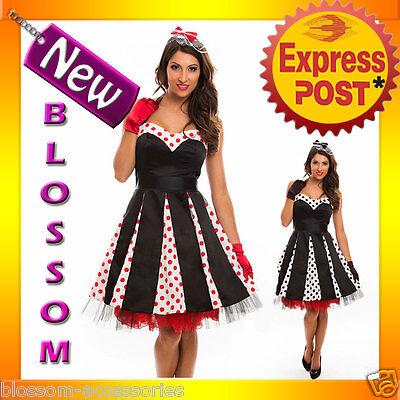 RK72 Rockabilly Polka Dot Halter Formal Dress Swing 40s 50s Retro Pin Up Plus