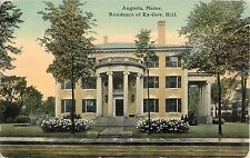 c1910 Residence of Ex-Governor Hill, Augusta, Maine Postcard