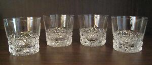 KIMARA-IITTALA-Bar-Glass-Scotch-Whiskey-Glasses-2-5-8-034-SET-of-FOUR-MCM