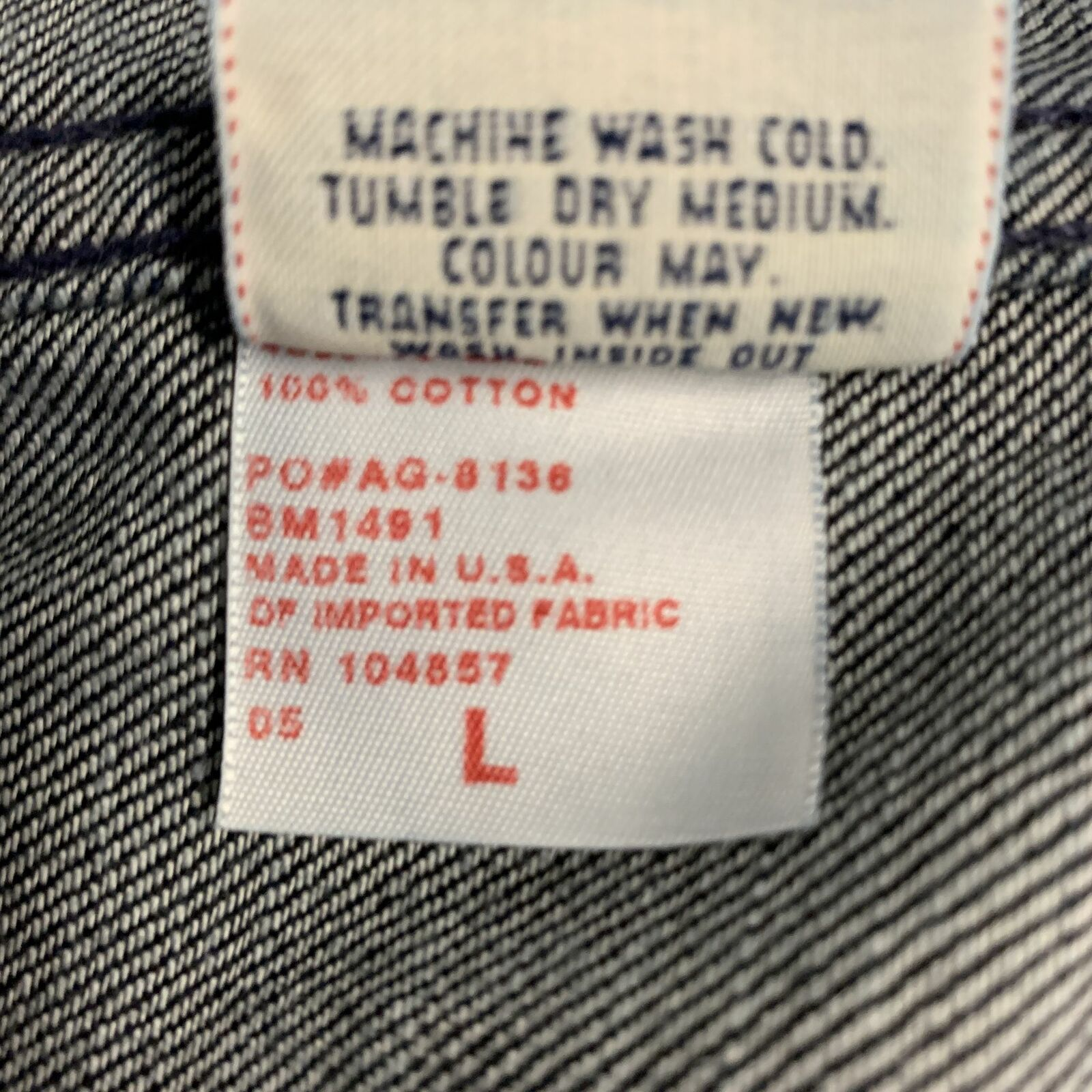 ADRIANO GOLDSCHMIED Size L Indigo Denim Cotton Sn… - image 7