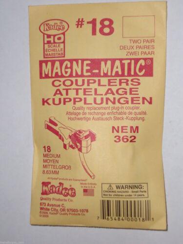Kadee HO #18 couplers NEM 362 Medium Coupler