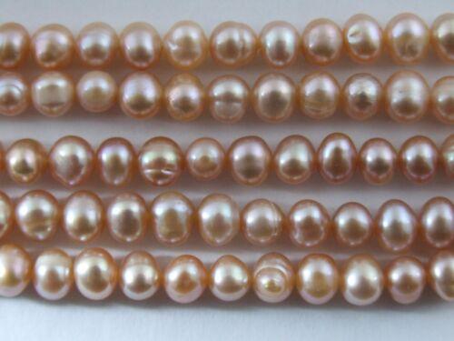 Variation près de Ronde Véritable Nature eau douce collier de perles 7-8 mm Everyday