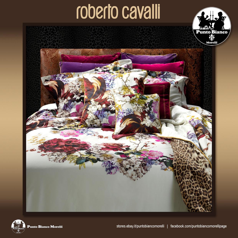 ROBERTO CAVALLI   FLORIS Lenzuola, sopra sotto e due federe - Full bedsheet