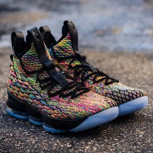 new products 78101 a5274 Image is loading Nike-Lebron-15-XV-Multicolor-Black-Four-Horseman-