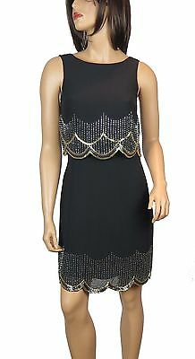 New 1920's Gatsby fully embellished shift Flaper Dress from size 8 to PLUS SIZES