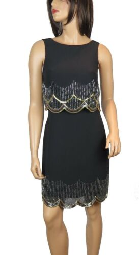 New 1920/'s Gatsby fully embellished shift Party Dress from size 8 to PLUS SIZES