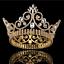 Baroque Queen Gold Silver Bridal Crowns Wedding Tiaras Headdress Pageant Party