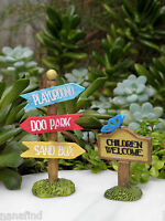 Miniature Dollhouse Fairy Garden Kids At Play Playground Signs Set Of 2
