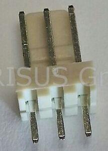 1000-pcs-Stiftleiste-gerade-3-polig-3pol-einreihig-RM-2-54mm