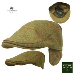 e2a006f0d Details about Failsworth Tweed Earflap Cap Moon 100% English Wool Cap  Shooting Fishing Golf