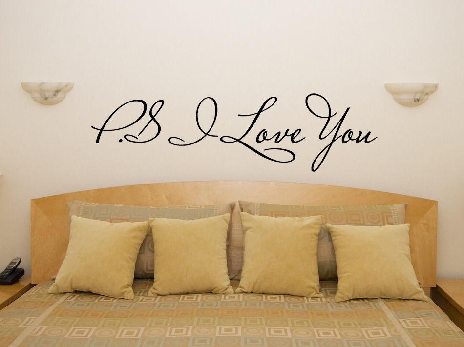 P.S.I LOVE YOU soggiorno decalcomania decalcomania decalcomania camera da letto ADESIVO ARTISTICO PARETE a223ff