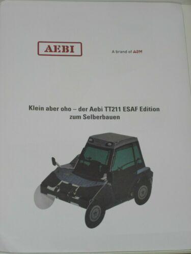 Aebi terratrac tt211 esaf Edition para construir tú mismo como bastelbogen 674