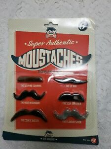 Details About Vintage Gag Gift Funny Faces Mustache Gentlemens Club Smile Beard Housewarming