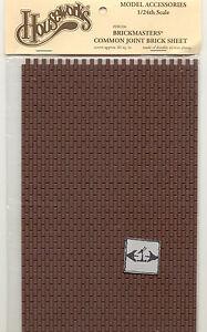 Brick-Styrene-Sheet-Half-Scale-1-24-miniature-Dollhouse-H8206-Houseworks