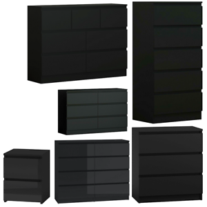 Black Bedroom Furniture Matt Finish Modern Design Ebay
