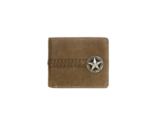 MWS-W024 Montana West Genuine Leather Lonestar Collection Men's Wallet