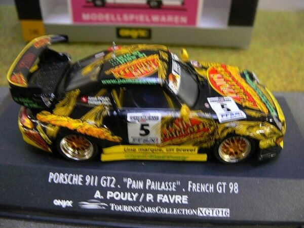 1 43 Onyx xgt016 porsche 911 gt2 French GT 98 A. Pouly-P. Favre  5