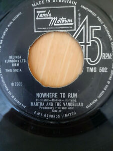Martha and the Vandellas Nowhere to Run 7in vinyl single Motown TMG502