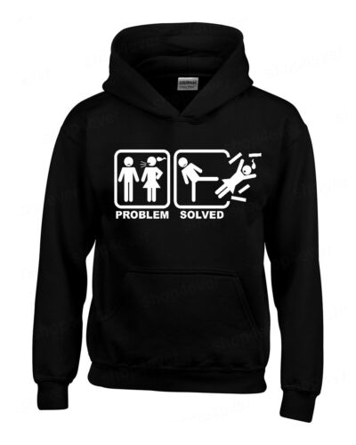 Problem Solved Hoodie Funny Wedding Marriage Honeymoon Gag Humor Sweatshirts