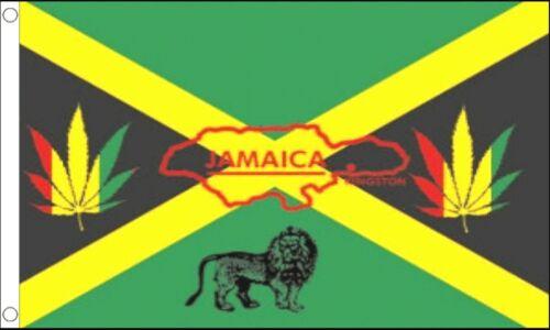 Jamaica Rastafarian Lion of Judah 5/'x3/' Flag