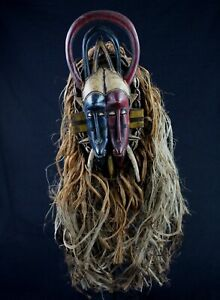 Art African - Mask Kpelie Senoufo Senufo Double Face Full / Complete - 75 CMS