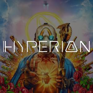 "/""Hyperion/"" Gun Manufacturer Logo Vinyl Decal Sticker Borderlands 3"